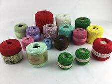 YARN Mixed Lot Crochet Thread Vintage New And Used
