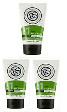 The Real Shaving Co Step 1 Daily Face wash  3x100ml Mens Brand New