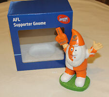 GWS Western Sydney Giants AFL Supporter Gnome Ornament 15cm Resin Hand Painted