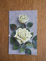 KNIGHT BROTHERS POSTCARD No. 1360 YELLOW TEA ROSES POSTED GATESHEAD OCTOBER 1905