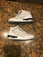 NIKE AIR JORDAN 3 III RETRO WHITE FLIP GS 315768-101 US 5Y PRE OWNED