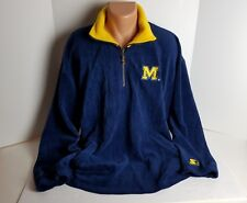 Michigan College Football Mens Pullover Sweater Brand Starter Size L Long Sleeve