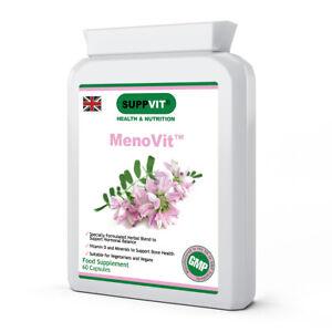 MenoVit™ Menopause Herbal Blend for Hormone Balance & Vit D for Bones 60 Capsule