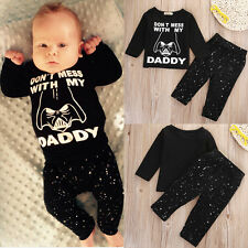 Star Wars Newborn 6 12 18 24 Months Tops Shirt Pants Set Baby Boy Clothes Outfit
