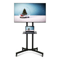 Adjustable TV Stand Mobile Cart Mount Wheels for Plasma LED Flat Screen 32- 65""