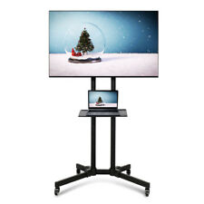 Adjustable TV Stand Mobile Cart Mount Wheels for Plasma LED Flat Screen 32- 70""
