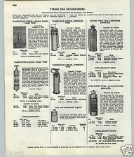 1951 53 PAPER AD 2 PG Pyrene Fire Extinguisher Water Gas Cartridge 1 Pint Size