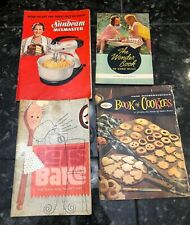 Vintage Lot of 4 Kitchen Manuals Recipe Books Ephemera 1930's- 1960s Worlds Fair