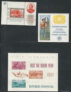 Indonesia: 1961; 5 different souvenirs sheets, some light rust, mint NH EBID10