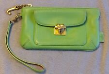 JUICY COUTURE WRISTLET GREEN LEATHER PUSH HEART LOCK