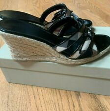 BURBERRY CHECK WEDGES SZ 39 PRE-LOVED!