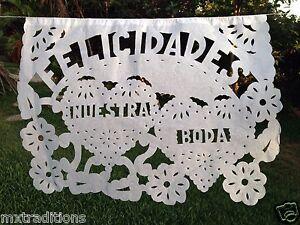 MEXICAN WEDDING PAPEL PICADO SIZE LARGE. PAPEL PICADO BODA GRANDE HECHO A MANO