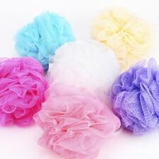 4 x Body Puff Shower Bath Sponge Scrunchie ExfoliatingBody Wash Comfort