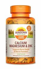 Sundown Calcium, Magnesium and Zinc High Potency, 100 Caplets (Packaging May ...