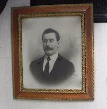 ANCIEN Photo,DESSIN,CADRE,DORURE,BOIS DORE,1900,DESSIN,PORTRAIT Homme