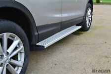 Running Boards + LEDs For Nissan Qashqai 2014+ Aluminium ABS Side Steps Skirts