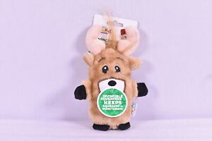 Outward Hound Invincibles Holiday Reindeer Dog Toy w/ Invincible Squeaker