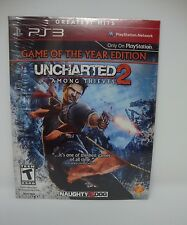 PS3 GAME UNCHARTED 2 AMONG THIEVES GAME OF THE YEAR ED NEW -Download Card Code