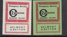 1971 STRIKE MAIL- Belmont & Sutton- 2/ x 2 - MNH