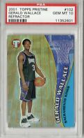 PSA10!! 2001 TOPPS PRISTINE #102 SAC KINGS GERALD WALLACE RC PSA 10 GEM MINT
