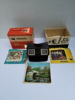 Vintage VIEW-MASTER 3-DIMENSION VIEWER MODEL E 1950s w/ BOX 3-D Brown More