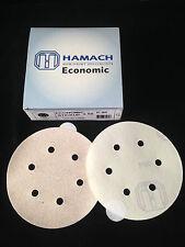 HAMACH Schleifscheiben -50 Stk.-Economic Stickup (klebend) ∅ 150mm P80, 6 Loch