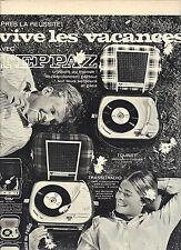 PUBLICITE 1966   TEPPAZ  transitradio éléctrophone