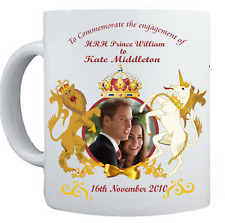 PRINCE WILLIAM AND KATE MIDDLETON ENGAGEMENT Mug Cup #4 - Red