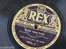 78 Rpm Lew Sylva banda cierra los ojos/la di da di da, Rex 8086