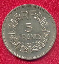 TRES RARE 5 FRANCS LAVRILLIER NICKEL DE 1937 ! RARE TOP