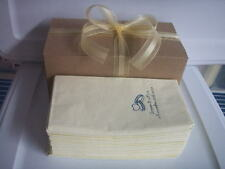 50 PERSONALIZED hand guest towels dinner NAPKINS WEDDING in gift box with a bow