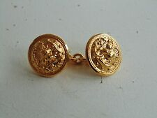US NAVY ALL OFFICERS GOLD MESS & EVENING DRESS JACKET CHAINED BUTTON CLOSING TAB