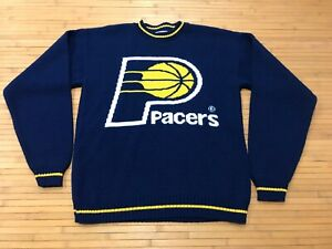 MENS SMALL - Vtg 80s 90s NBA Indiana Pacers Acrylic Sweater USA