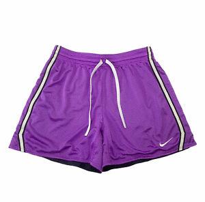Nike Dri Fit Purple Mesh Gym Training Athletic Shorts- Women's M- EUC