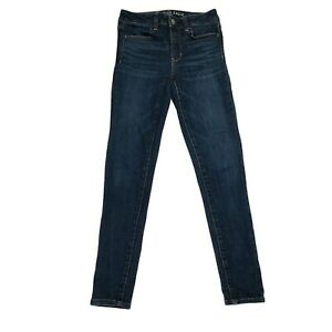 American Eagle Women's Size 2 Next Level Mid-Rise Jegging Stretch Denim Jeans