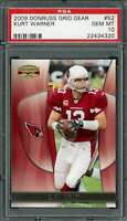 2009 donruss grid. gear #52 KURT WARNER arizona cardinals PSA 10