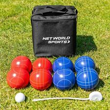 Complete Deluxe Bocce Set | Bocce Ball Set with Measuring Tape and Carry Bag