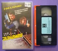 VHS Film Ita Fantascienza RUNAWAY tom selleck crichton ex nolo no dvd cd lp(V43)