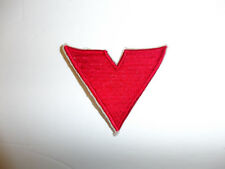 b5488 WW2 US Civilian High School Victory Corps HSVC shoulder patch red V R12A