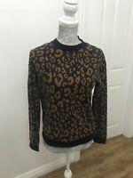 BNWT M&S Collection Animal Print Sweatshirt Navy Mix - UK Size 6
