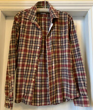 Mens JACK WILLS Red And Brown Check Brushed Cotton Shirt Size XL