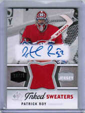 14/15 SP GAME USED PATRICK ROY INKED SWEATERS JERSEY AUTO /25 MONTREAL CANADIENS