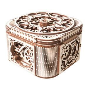 UGears DIY Treasure Box Mechanical Model 3D Wooden Puzzle Kit