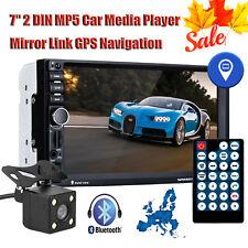 "7"" 2DIN Auto Media Player Bluetooth GPS Navigation AUX/USB/FM Radio +Map+Camera"