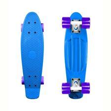 "Long Island in plastica Buddy Cruiser SkateBoard Completo Blu Viola 22.5"" x 6"""