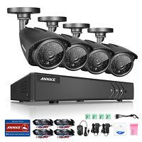 ANNKE 4CH HD 1080P H.264+ DVR 2500TVL Indoor Outdoor CCTV Security Camera System