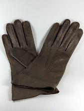 Deerskin Leather Gloves Size 7. Brown.Vintage . Original attachment intact.