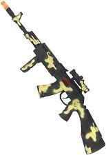 Toy Gun Camo Military Rifle Soldier Army Carnival Fun Fancy Dress Weapon Prop