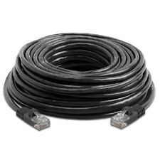 2 X Black 100 FT Foot 30M Cat5 Patch Ethernet LAN Network Router Wire Cable Cord