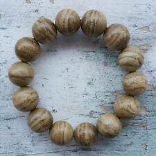 16 MM Aquilaria Agarwood Bracelet 11 Grams Tiger Stripe Aloeswood 14 Beads #04